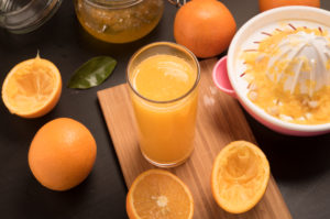 Fresh Orange Juice Making