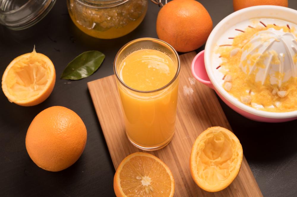 Fresh Orange Juice Making